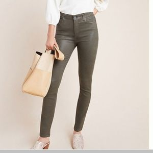 Paige Hoxton High-Rise Coated Skinny Jeans